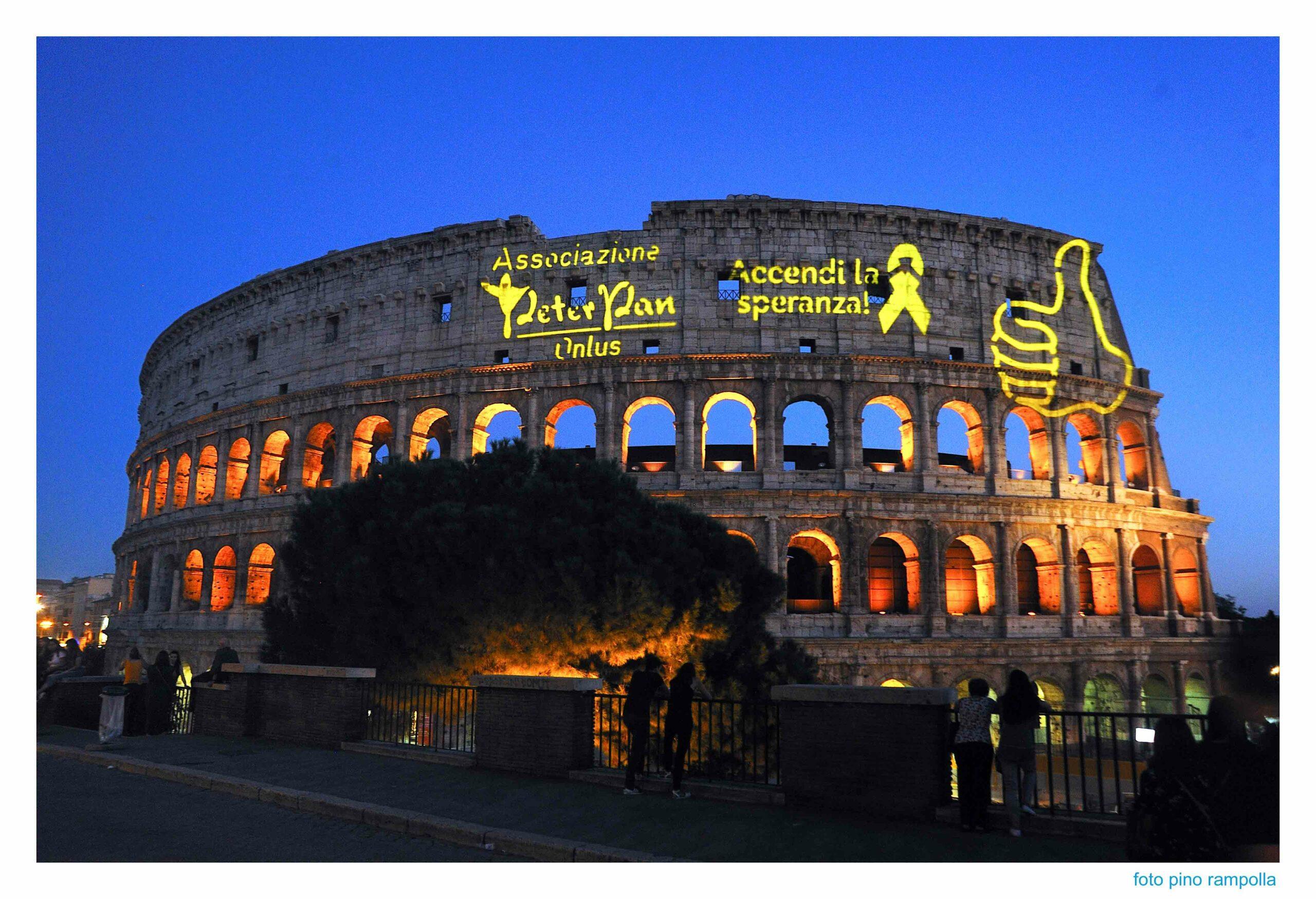 Colosseo d'oro Peter Pan accendi la speranza