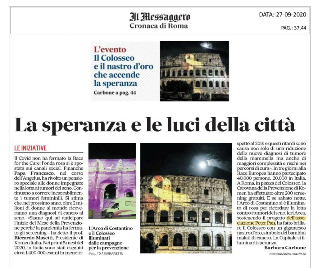 Il Messaggero di Roma parla del settembre d'oro