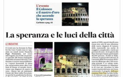 Il Nastro d'oro che accende la speranza sul Messaggero di Roma