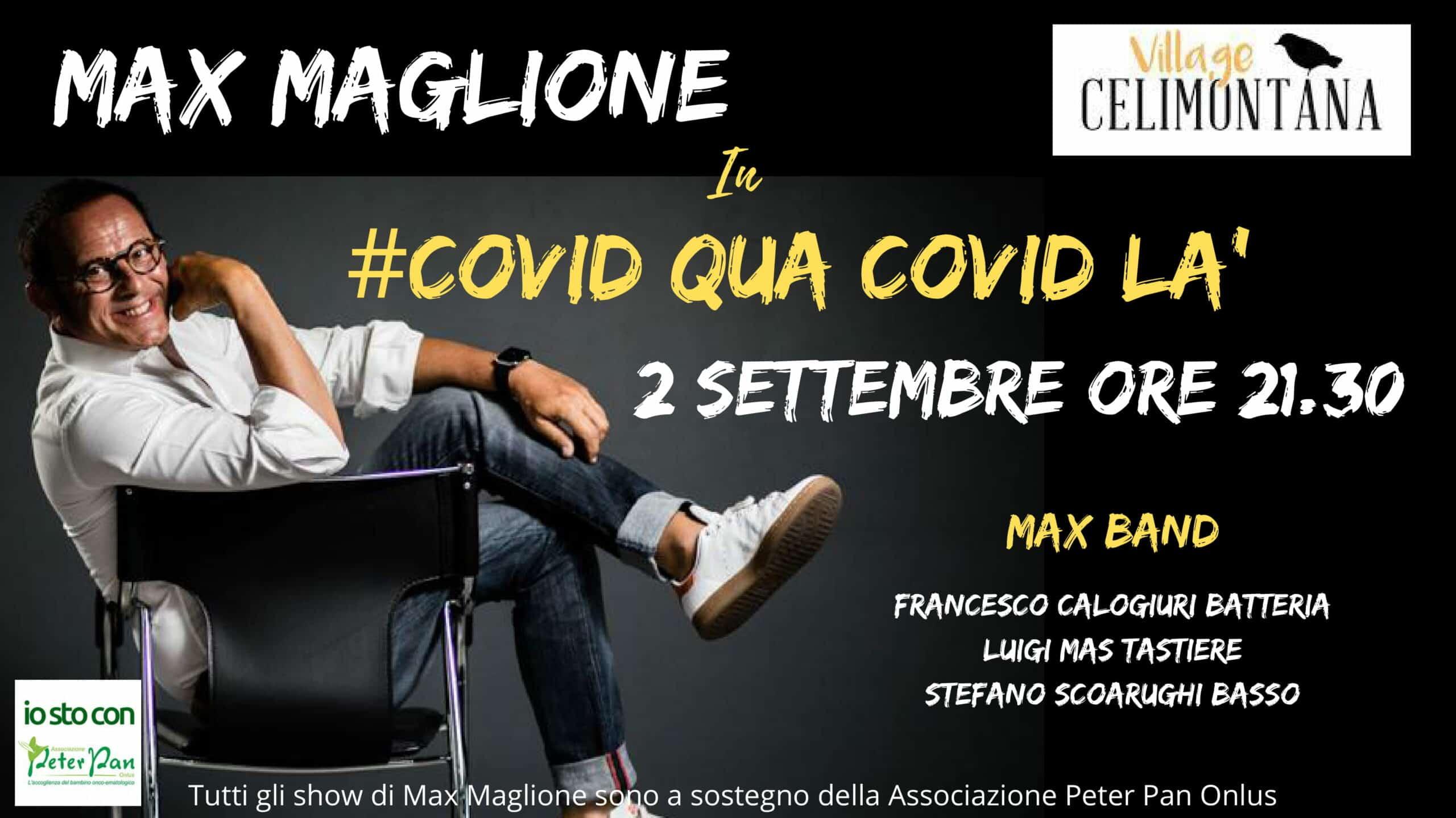 Max Maglione in show a Villa Celimontana il 2 settembre
