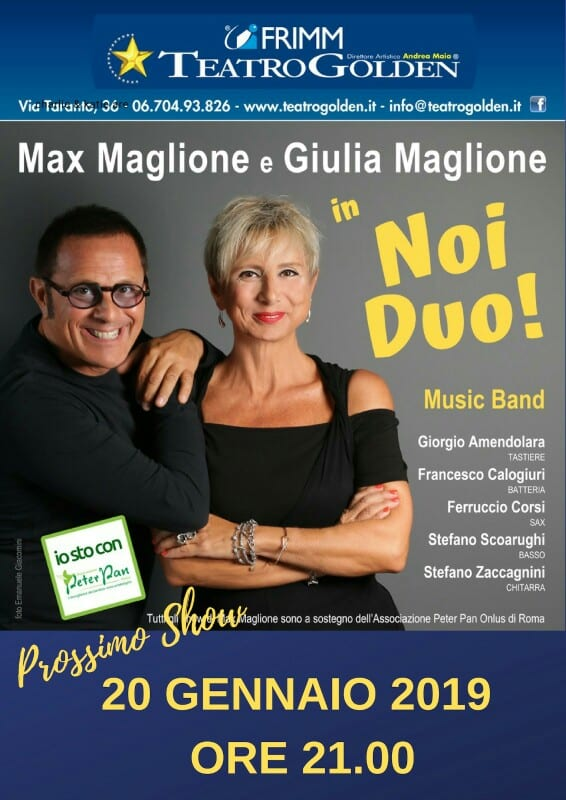 Max Maglione 20 gennaio 2019 Teatro Golden
