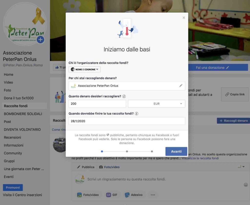 Come aprire una raccolta fondi su Facebook