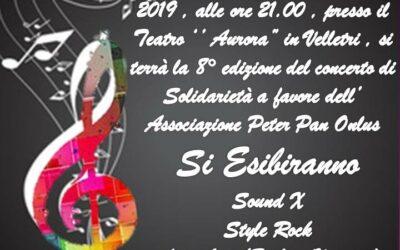 25 maggio al Teatro Aurora di Velletri: ottavo concerto per Peter Pan.