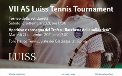 """""""Luiss Tennis Tournament"""": Peter Pan è la charity partner della settima edizione"""