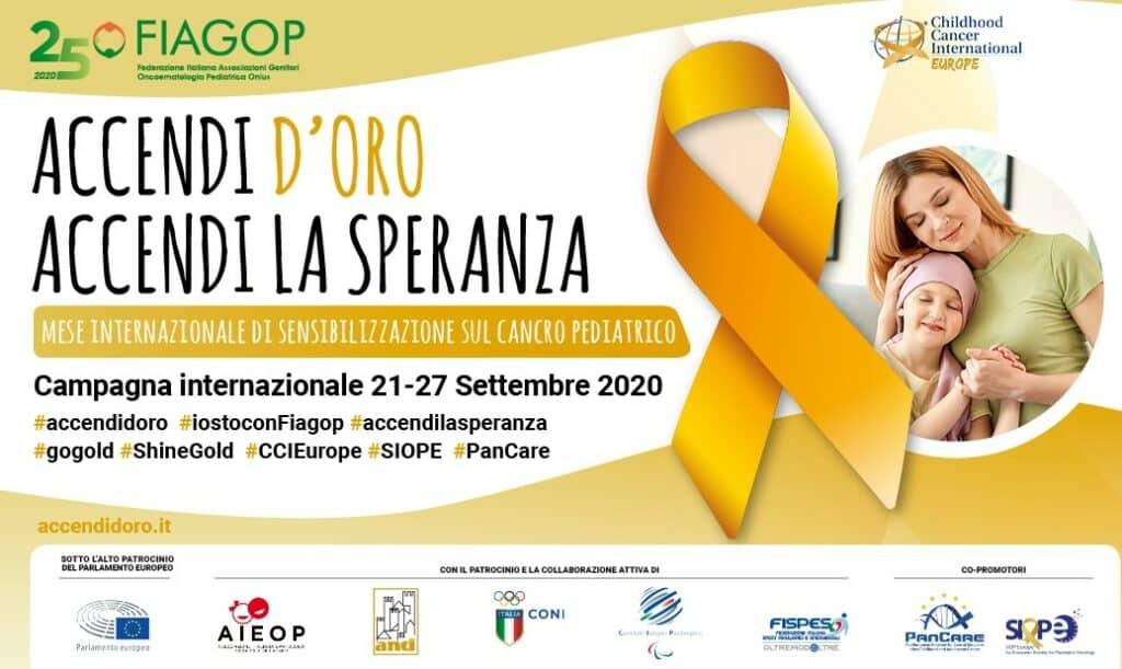 Partecipa al settembre d'oro contro il cancro infantile