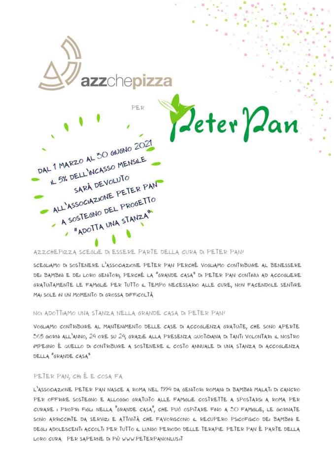 azz pizza sostiene peter pan