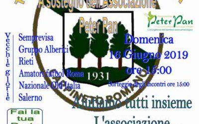 Carpineto Romano: torneo di calcio per Peter Pan il 16 giugno