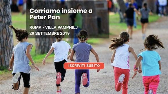 Corriamo Insieme a Peter Pan il 29 settembre a Villa Pamphilj a sostegno dei bambini malati di cancro