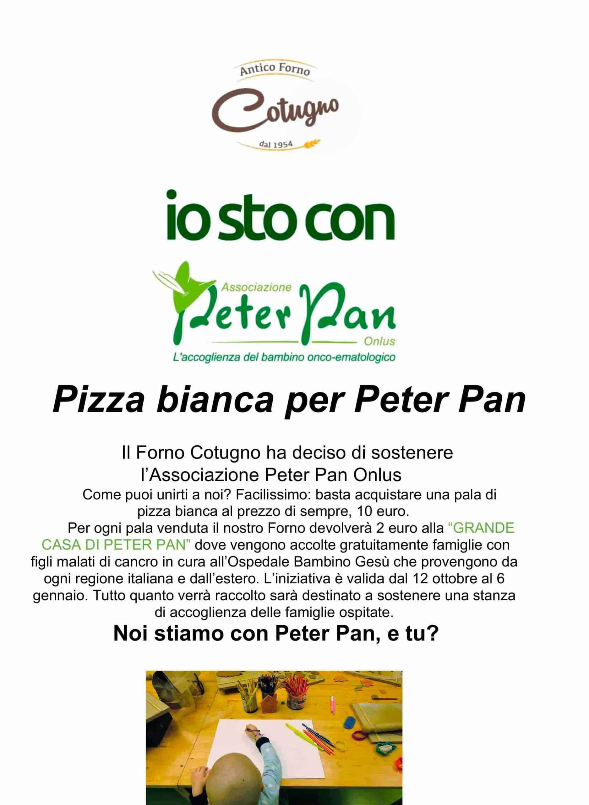 Antico Forno Cotugno raccolta fondi a sostegno di Peter Pan