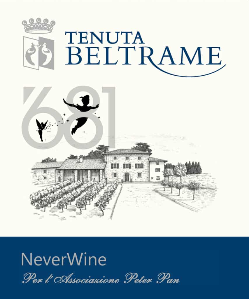 Tenuta Beltrame never wine a sostegno di Peter Pan