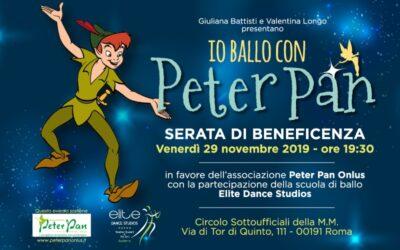 Io Ballo con Peter Pan: serata di beneficenza il 29 novembre a Roma