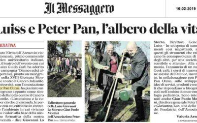 Peter Pan pianta un melograno alla LUISS per la Giornata Mondiale contro il cancro infantile