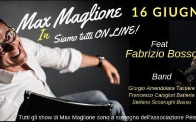 """""""Siamo tutti Online"""": Max Maglione a Villa Celimontana il 16 giugno"""