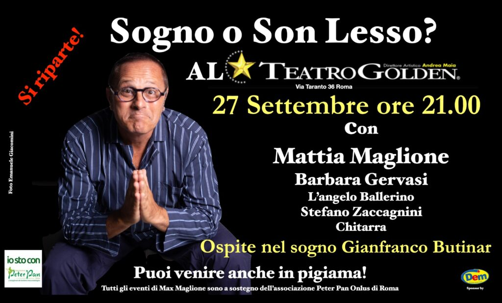 Max Maglione al Teatro Golden per Peter Pan