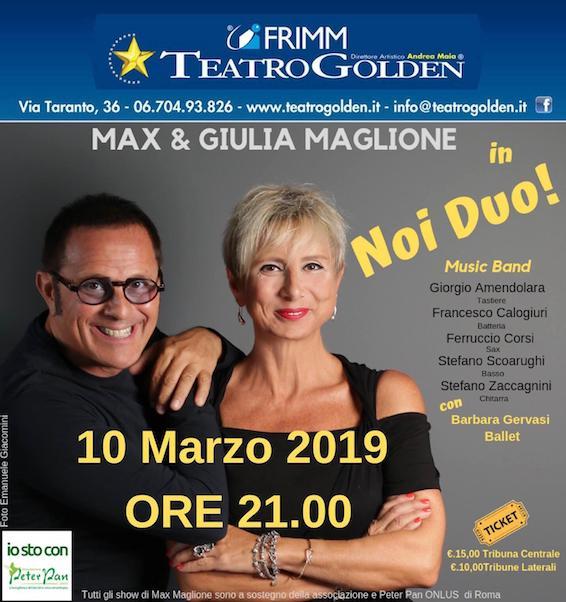 Max Maglione 10 marzo 2019 Teatro Golden