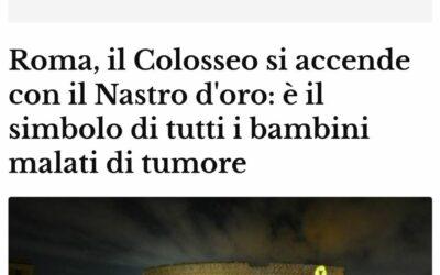 Sul Messaggero il Colosseo illuminato e il Settembre d'Oro di Peter Pan