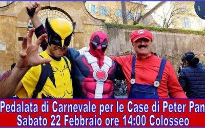 Dal Colosseo alla Grande Casa: torna la Pedalata di Carnevale per Peter Pan