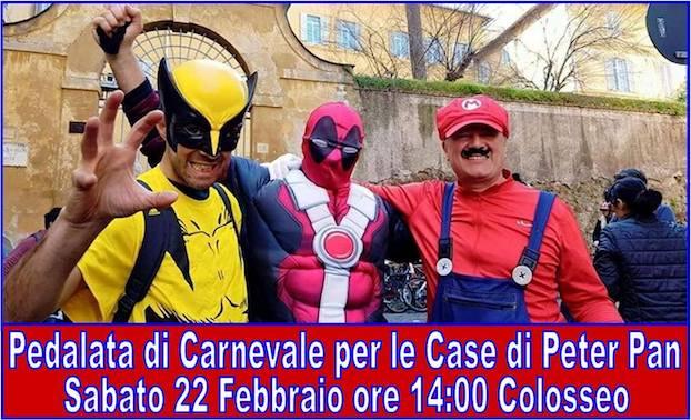 Torna la Pedalata di Carnevale per Peter Pan 22 febbraio 2020