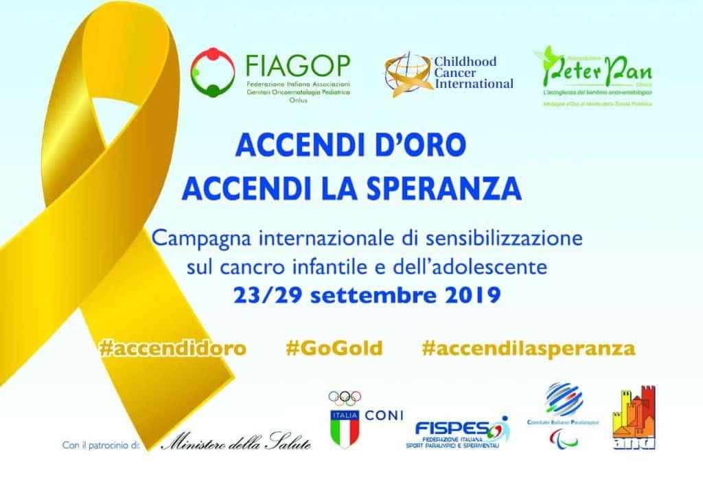 Torna il Settembre d'Oro contro il cancro pediatrico dal 23 al 29 settembre 2019