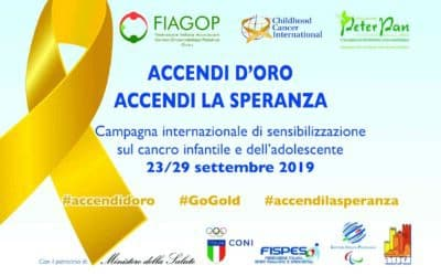 Il Mondo si tinge d'Oro: parte il Settembre contro il cancro pediatrico