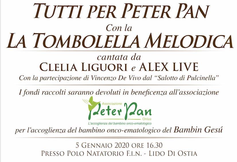 Partecipa alla Tombolella Melodica a sostegno di Peter Pan