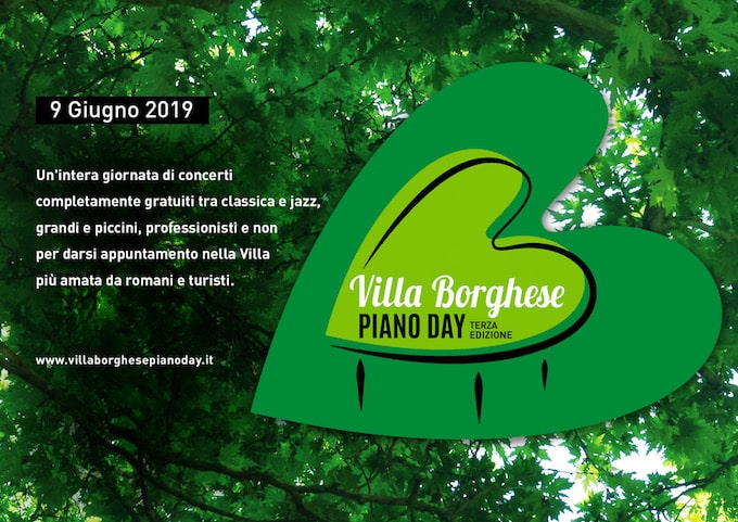 Villa Borghese Piano Day 9 giugno 2019